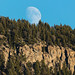 Moonrise over Mt. Everts by YellowstoneNPS