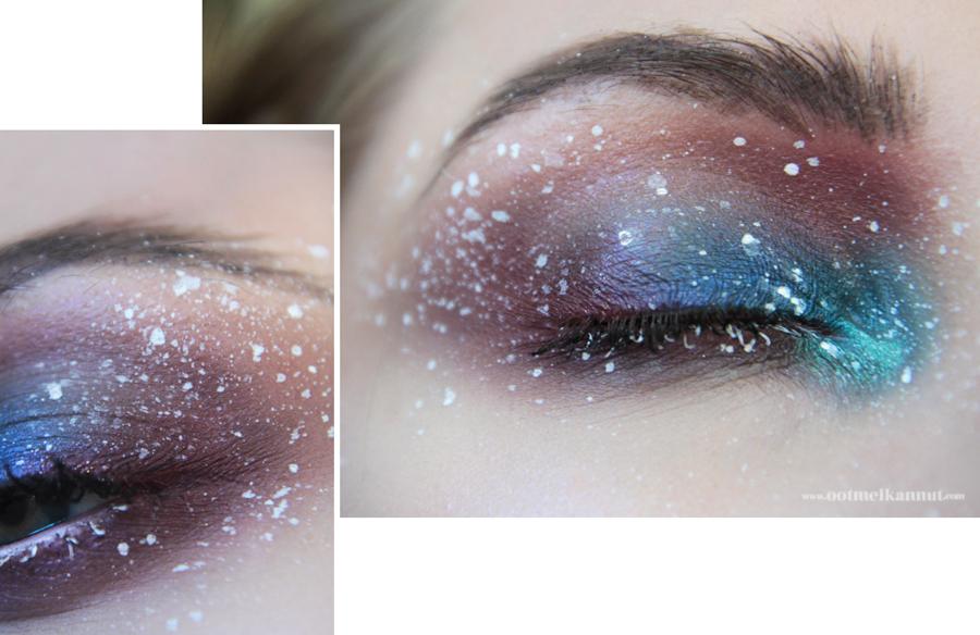 splatter makeup