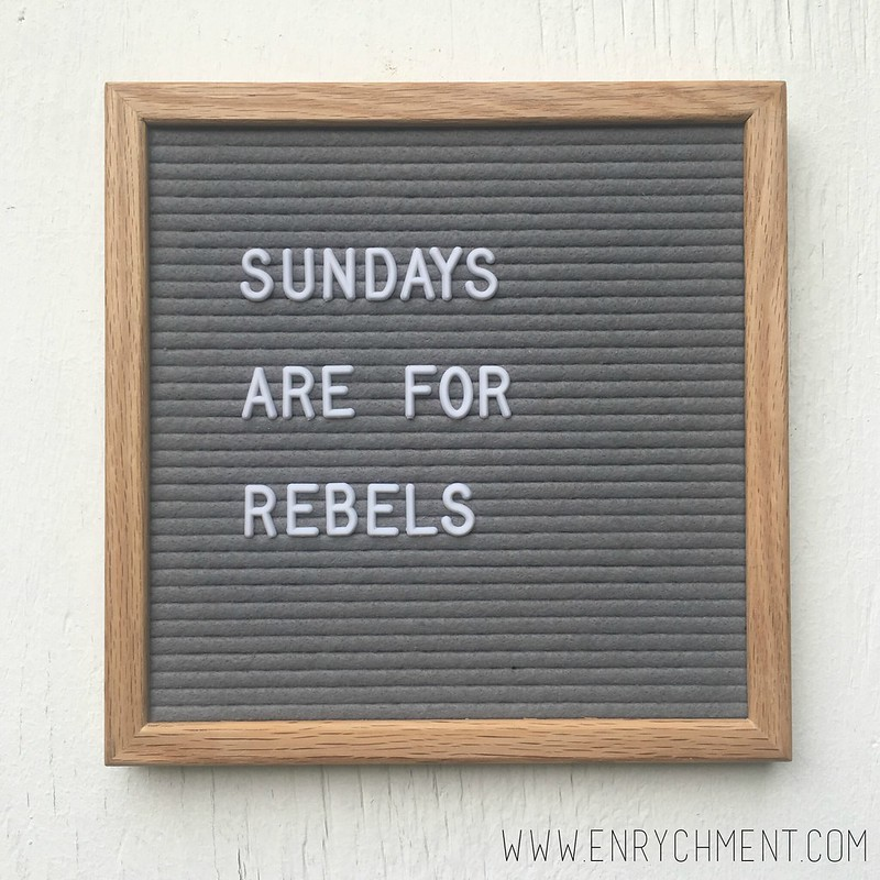 sunday rebel letterboard