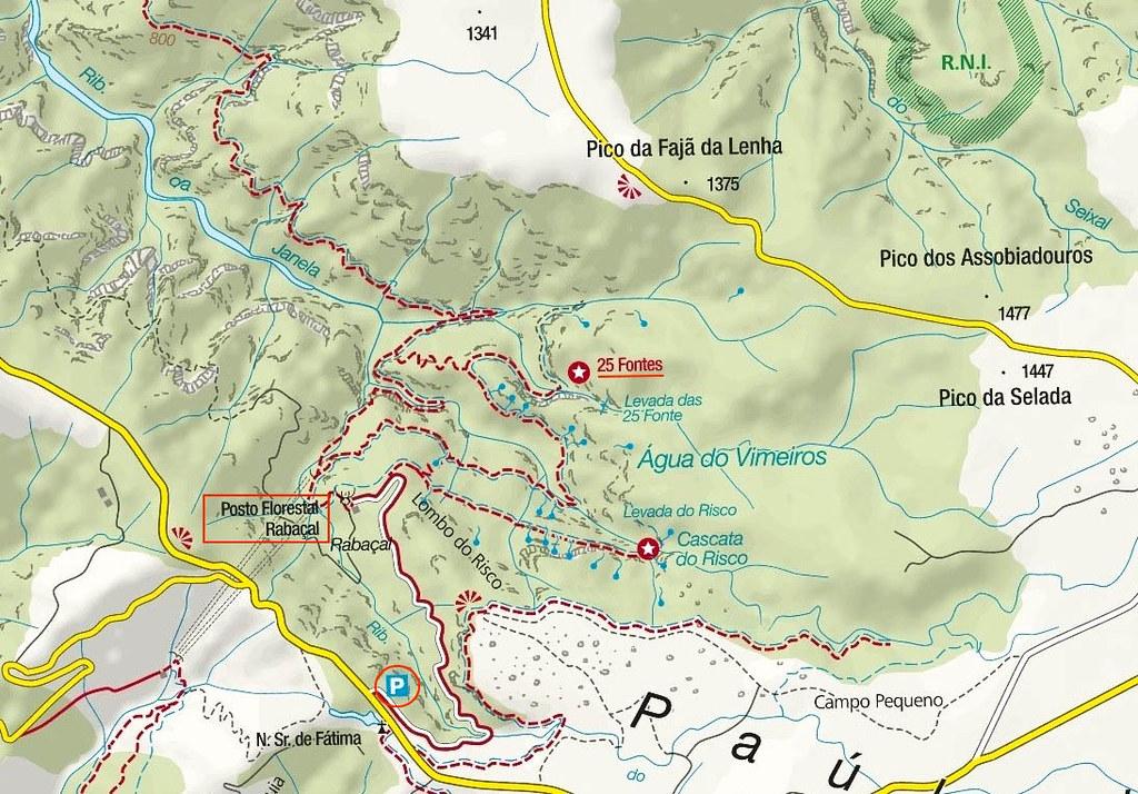Mapa Levada 25 Fontes