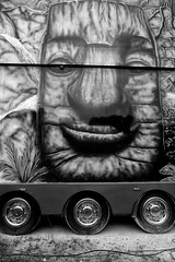 Wooden painted face