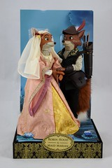 2017 Robin Hood and Maid Marian Designer Doll Set - Disney Store Purchase - Covers Off - Full Front View