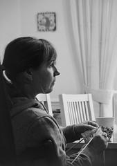 Canon EOS 60D & PicMonkey -  Mono - Tess Knitting (Side Profile)