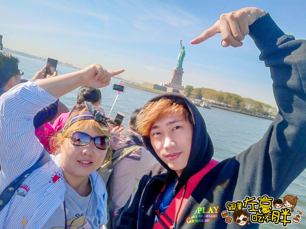 美國紐約遊船觀賞自由女神像