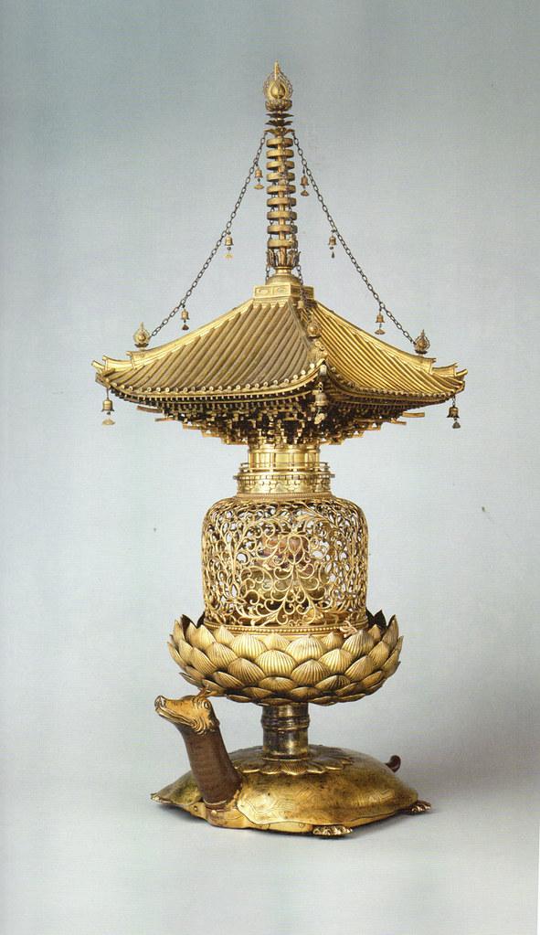 国宝《金銅舎利容器(金亀舎利塔)》(平安~鎌倉時代・12~13世紀、奈良・唐招提寺)