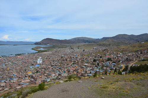 Die neuen Viertel von Puno mit Luxushotels.