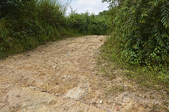 Bad condition of the roads to Khalabari make it more difficult for the villagers to access basic services.