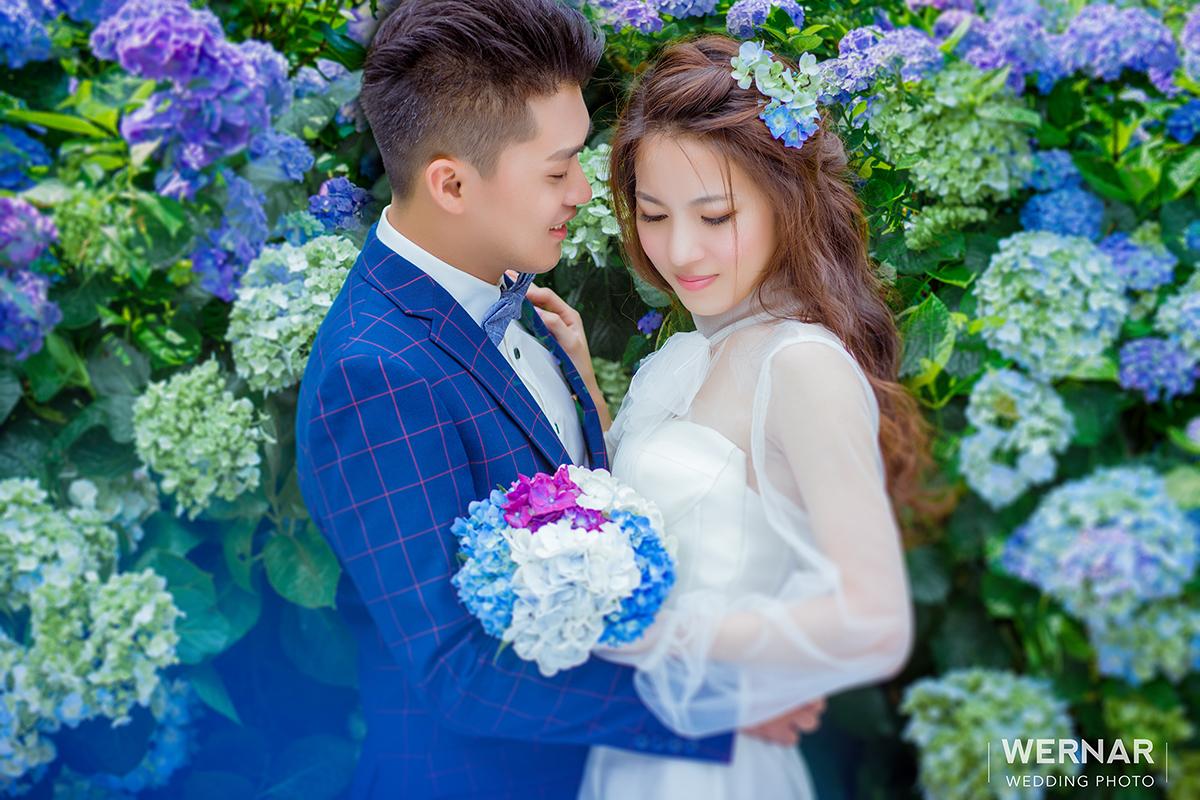 婚紗外拍景點,婚紗攝影,婚紗照,台中華納婚紗推薦,繡球花婚紗