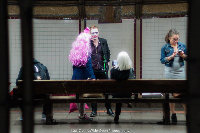 Costumed Commuters at 57th & Seventh Ave. Station