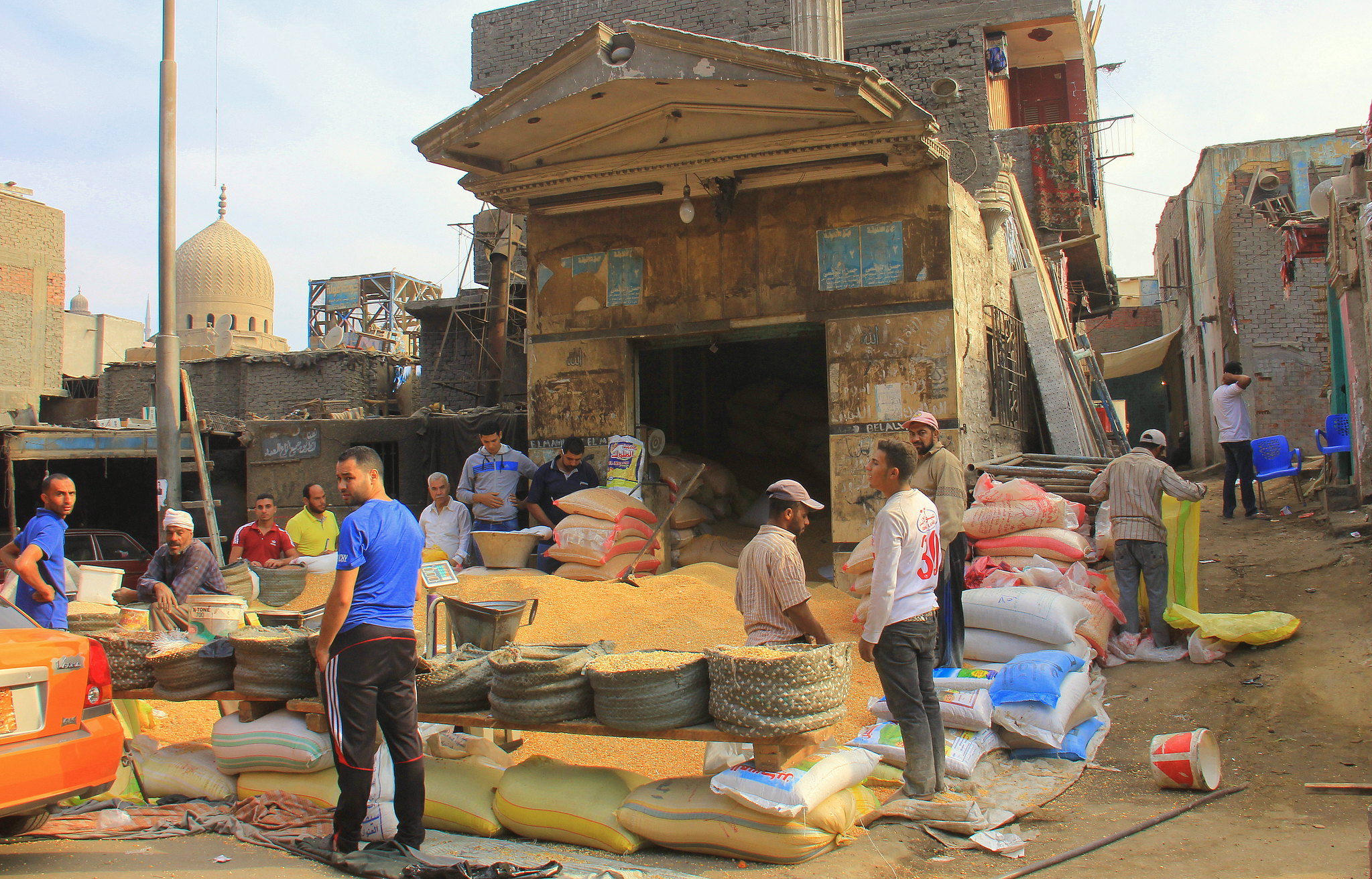 Bird feed for sale at Souq al Goma