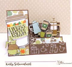 Stampin Up Coffee Step Card