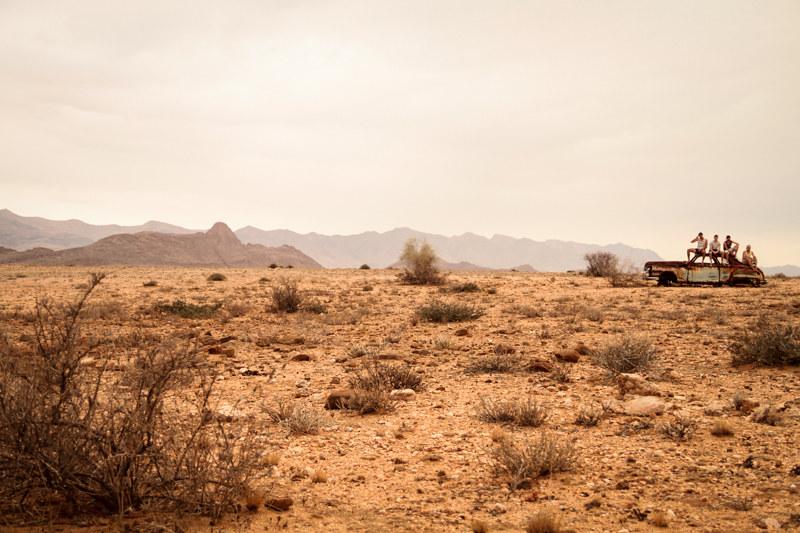 Oldtimer-in-der-Prärie-Namibia