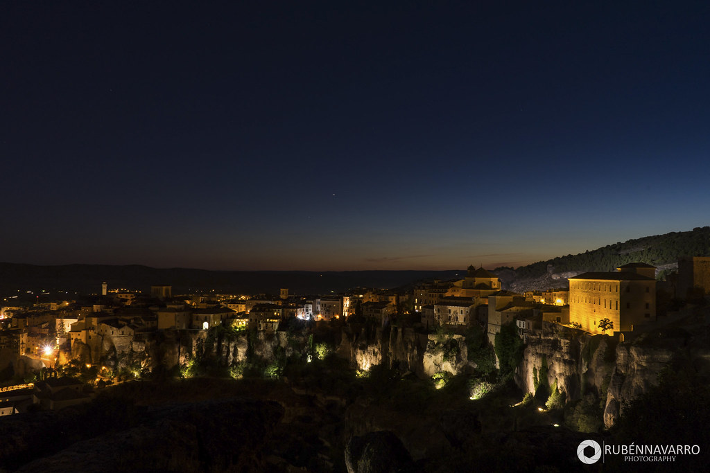 Mirador Cuenca de noche