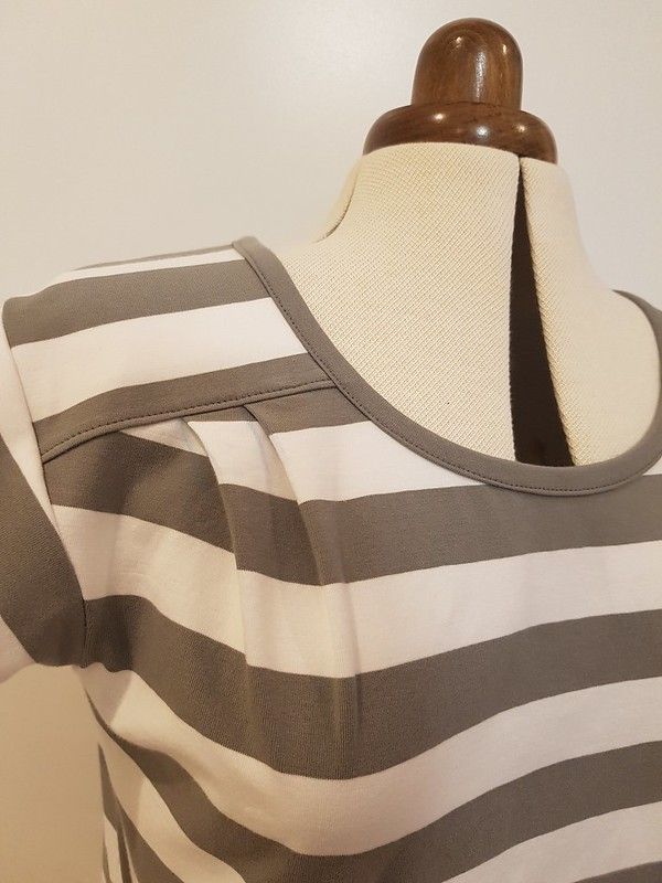 Liesl and Co Chai Tee in striped cotton spandex from Crafty Mamas