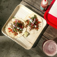 Tacos start at Noon in #thefolksbiertastingroom we are serving up 3 types until we are out today.