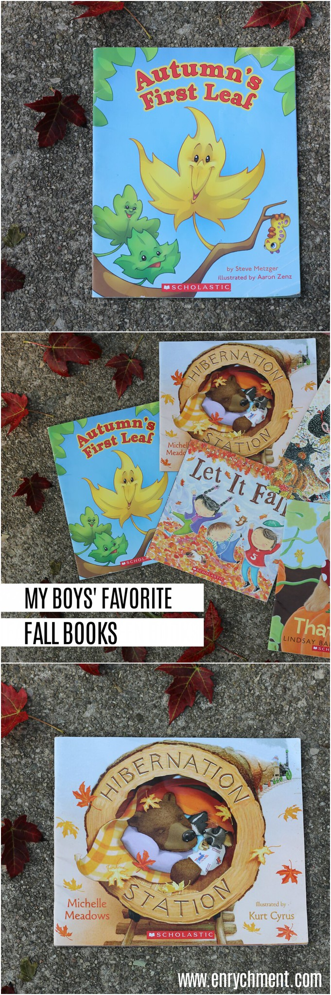 My boy's favorite fall themed books from scholastic | www.enrychment.com
