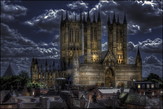 Lincoln Cathedral night