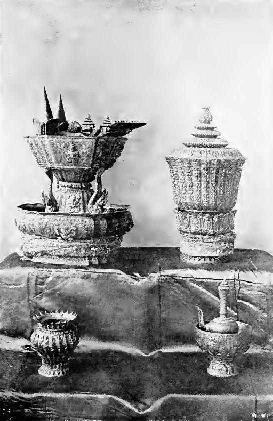 Royal Utensils of Siam. Photo taken for the coronation of King Prajadhipok (Rama VII). February 25, 1926.