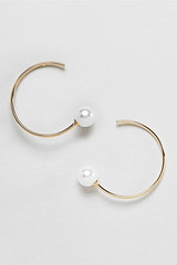 Asos pearl and gold hoop earrings
