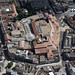 Aerial view of Buttermarket Shopping Centre in Ipswich - aerial Suffolk