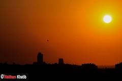 Sunset over Bilin