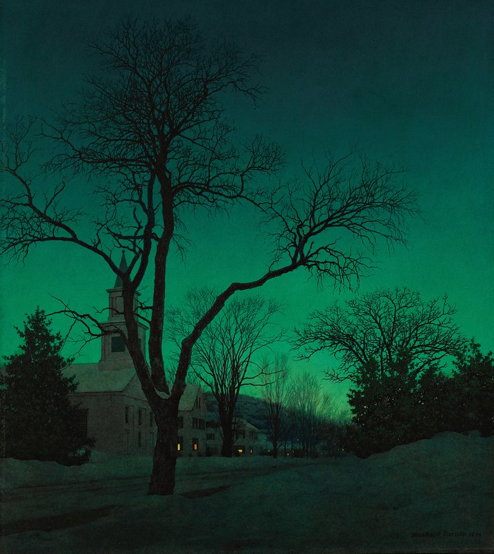 Maxfield Parrish - At Close of Day (1941)