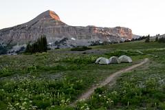 Camping at Fox Creek Pass in Grand Teton