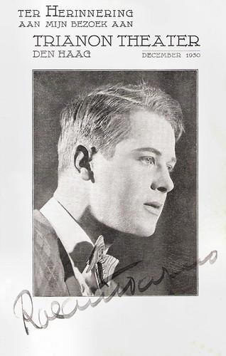 Roland Varno, Visit Trianon Theater, 1930