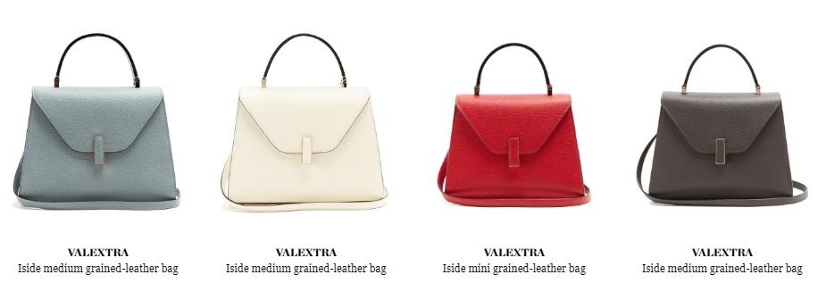 484e1d293fae @VALEXTRA Iside micro grained-leather bag(這是Micro版本的藍色€1,930 現在變成不能打折了)