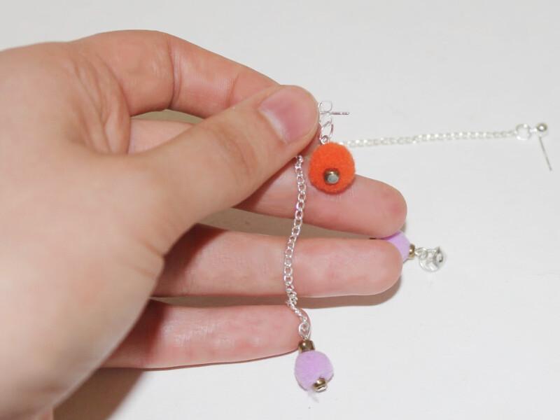 finished pom earrings 1