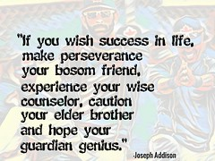 "Quotation: ""If you wish success in life, make perseverance your bosom friend, experience your wise...."""