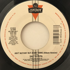 SALT N PEPA:AIN'T NUTHIN' BUT A SHE THING(LABEL SIDE-A)