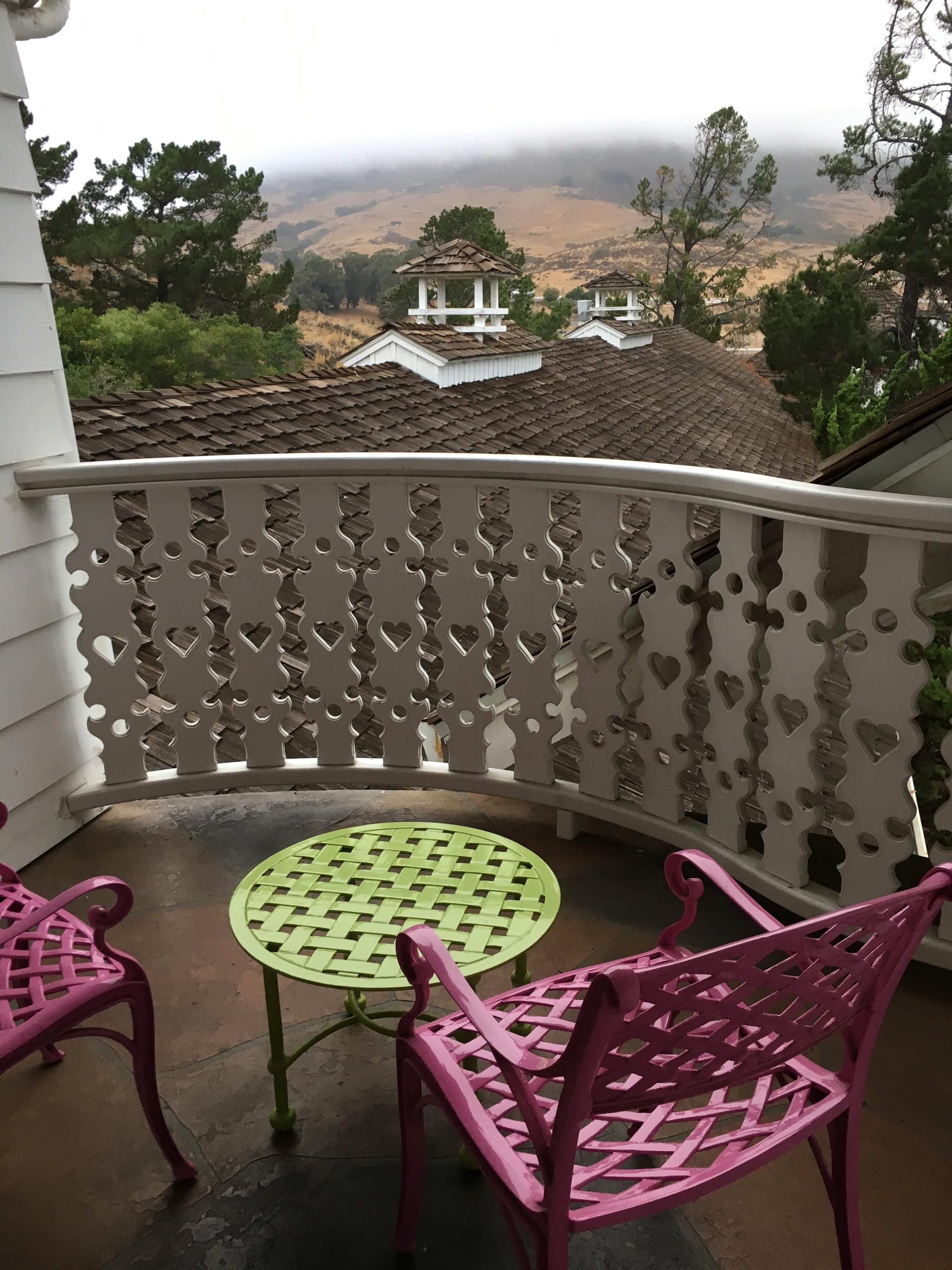 Madonna Inn - balcony