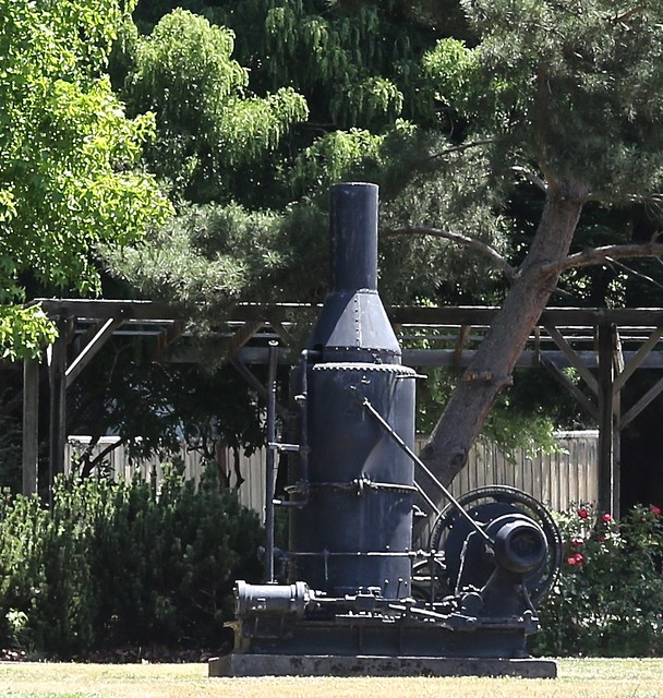Donkey engine, Scotia, California