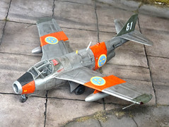 "1:72 Saab Sk29B (Skola) Tunnan; ""Vit Sextioet (White 61)"" of the Swedish Air Force F5 Kungliga Krigsflygskolan (""Royal Air Force Flight Academy""); Ljungbyhed, southern Sweden, 1961 (Whif/Heller kit conversion)"