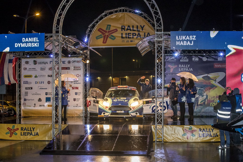 08 Habaj Łukaszand Dymurski Daniel, Rallytechnology, Ford Fiesta R5 action during the 2017 European Rally Championship ERC Liepaja rally,  from october 6 to 8, at Liepaja, Lettonie - Photo Gregory Lenormand / DPPI