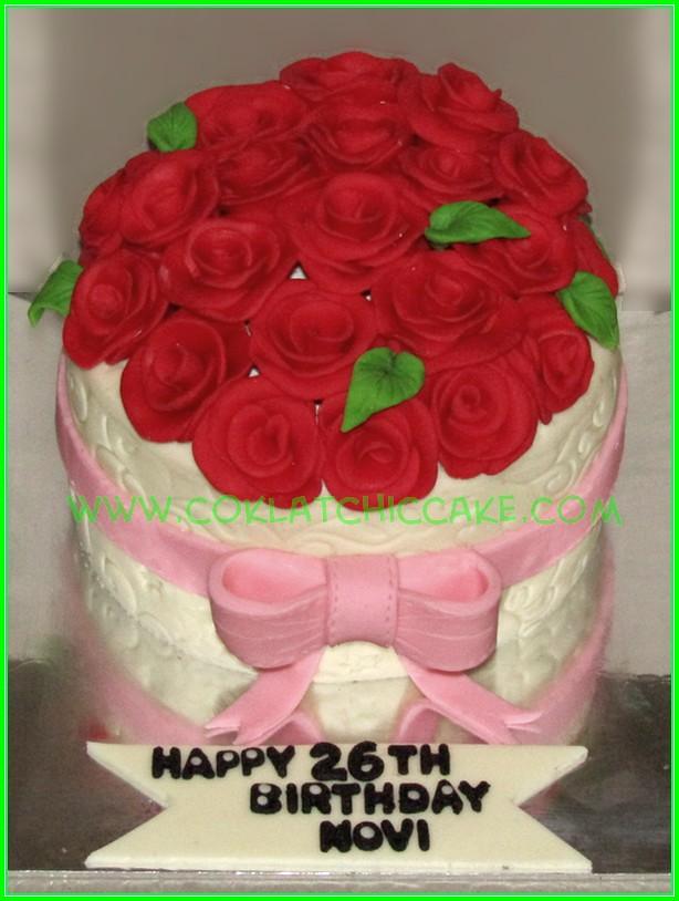 Cake bunga mawar - NOVI