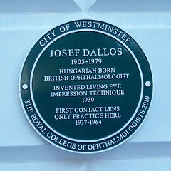 Photo of Josef Dallos green plaque