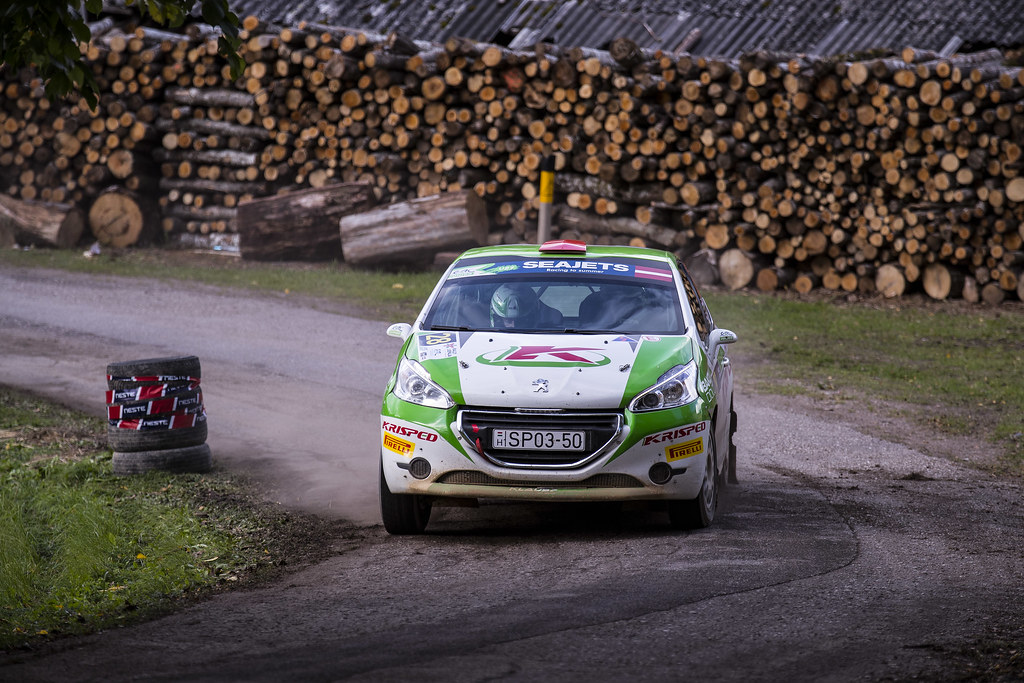 32 Forsstrom Alex and Hellsten Eetu-Pekka, TGS Worldwide OU, Opel Adam R2 ERC Junior U27 action during the 2017 European Rally Championship ERC Liepaja rally,  from october 6 to 8, at Liepaja, Lettonie - Photo Gregory Lenormand / DPPI