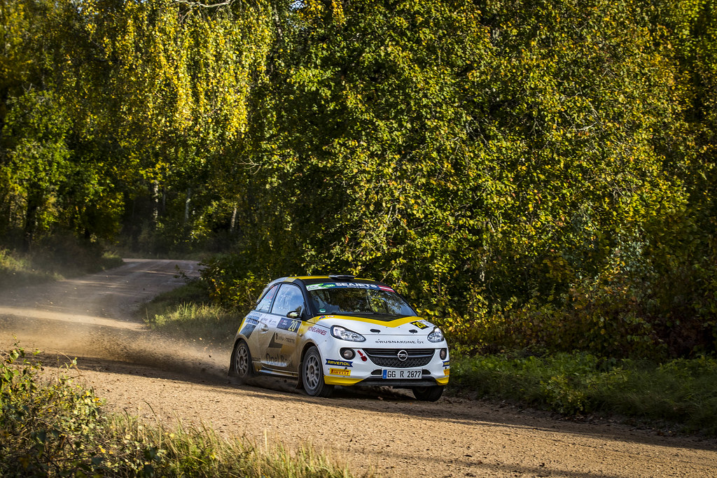 20 Huttunen Jari and Linnaketo Antti, ADAC Opel Rallye Junior Team, Opel Adam R2 ERC Junior U27 action during the 2017 European Rally Championship ERC Liepaja rally,  from october 6 to 8, at Liepaja, Lettonie - Photo Gregory Lenormand / DPPI