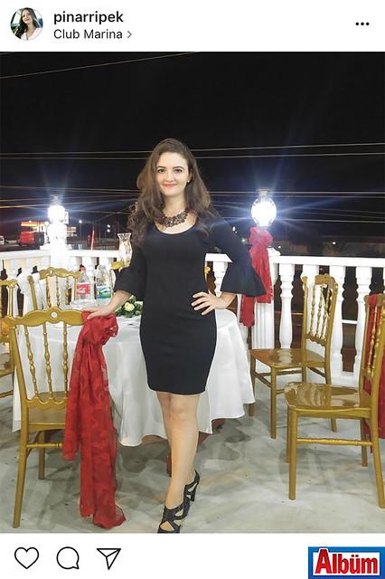 Pınar İpek, Club Marina'da keyifli bir gün geçirdi.