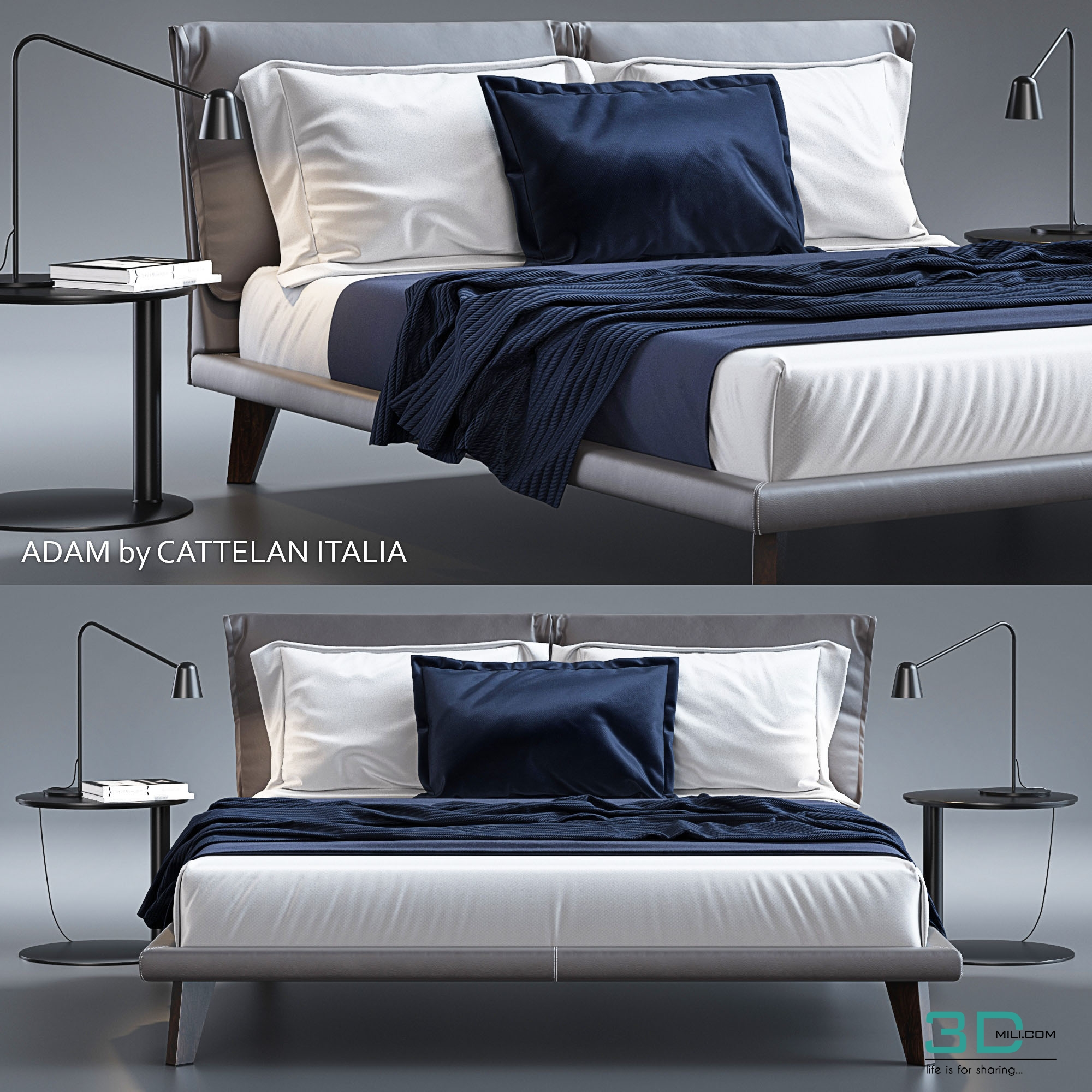 BED-Adam by Cattelan Italia - 3D Mili - Download 3D Model - Free 3D ...