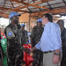 Beni,North Kivu,DR Congo: The Deputy Special Representative of the United Nations Secretary General the DRC,David Gressly motivates  Peacekeepers during his visit to Beni following fighting between Peacekeepers and armed groups.