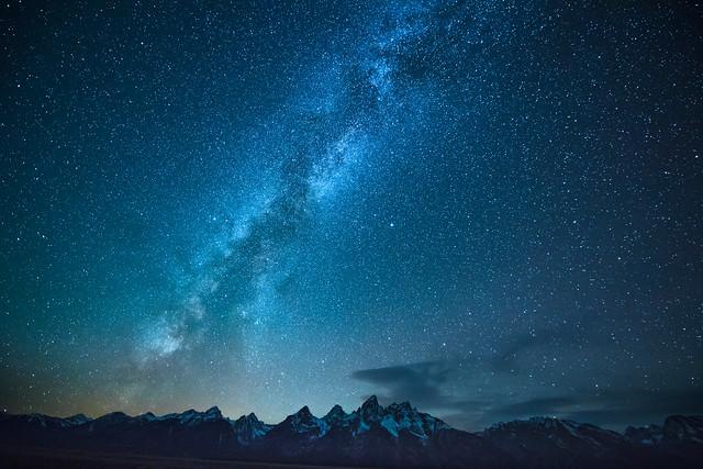 The Milky Way over the Teton Range, Grand Teton National Park, Wyoming