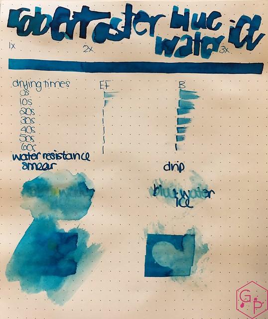 Ink Shot Review @RobertOsterInk Blue Water Ice @MilligramStore 4