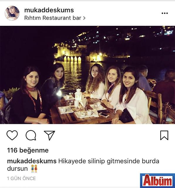 Optisyen Mukaddes Kumaş, dostlarıyla birlikte Rıhtım Restoran'da Alanya manzarası eşliğinde harika bir akşam geçirdi.
