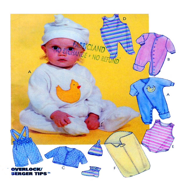 McCalls 8042 baby clothing pattern