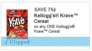 Krave Cereal Coupon