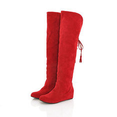 Winter Women Warm Over the Knee High High Lace Up Long Boots Flat Heel Boots (1081585) #Banggood