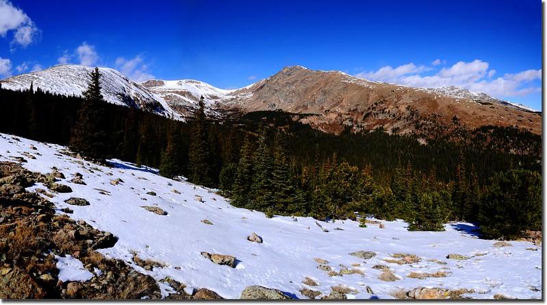 Looking Northwest at James Peak et al. from Bill Moore Lake Trail near 11,400' (2)